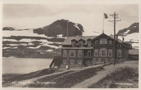Norge. Finse, Bergensbanen.