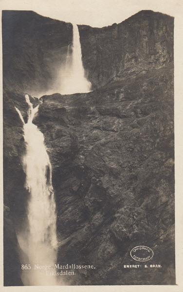 Norge. Mardalfosene, Fikisdalen.