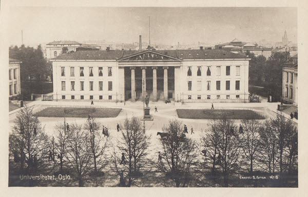 Universitetet, Oslo.