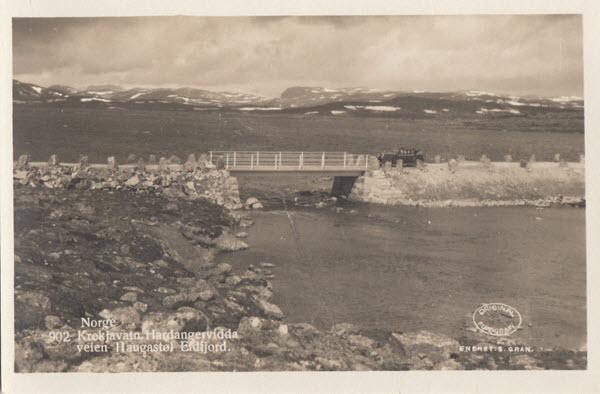 Norge. Krekjavatn, Hardangervidda veien Haugastøl Eidfjord.