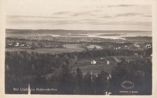 Utsikt fra Holmenkollen.