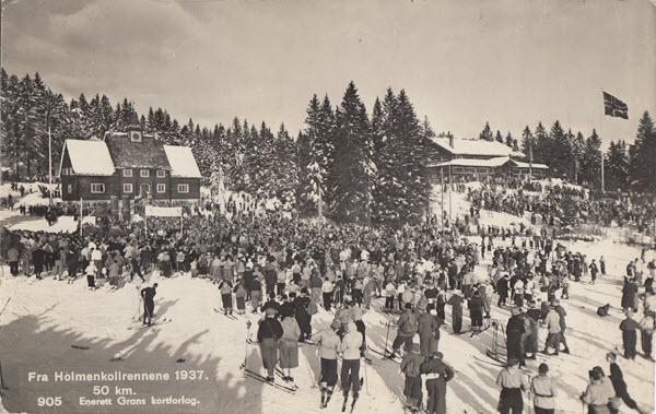 Fra Holmenkollrennene 1937. 50 km.