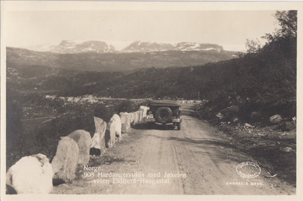 Norge. Hardangervidda ved Jøkelen veien  Eidfjord - Haugastøl.