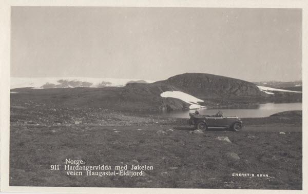 Norge. Hardangervidda med Jøkelen veien Haugastøl-Eidfjord.