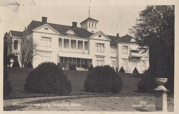 Kronprinsparets bolig, Skaugum Asker.