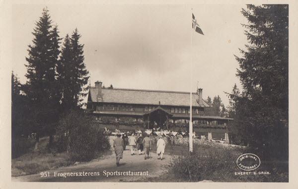 Frognersæterens Sportrestaurant.