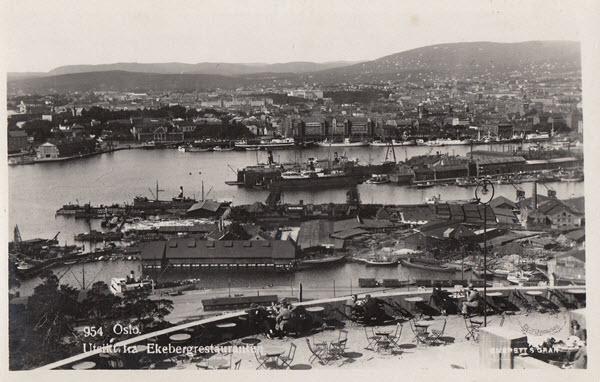 Oslo. Utsikt fra Ekebergrestauranten.