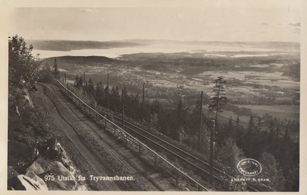 Utsikt fra Tryvannsbanen.