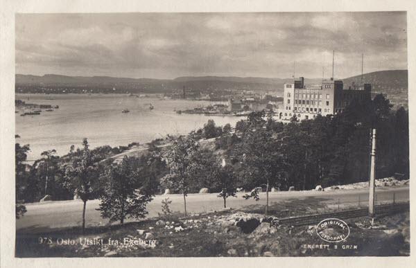 Oslo. Utsikt fra Ekeberg.