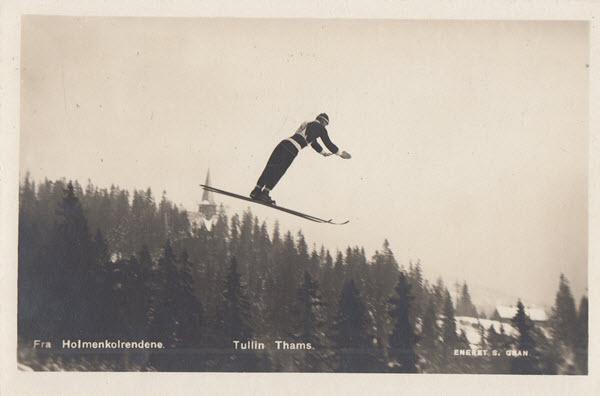 Fra Holmenkolrendene. Tullin Thams.