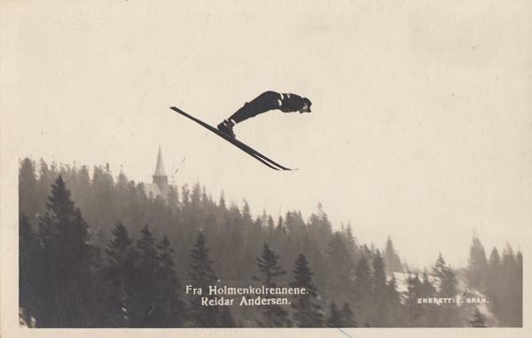 Fra Holmenkolrennene. Reidar Andersen.
