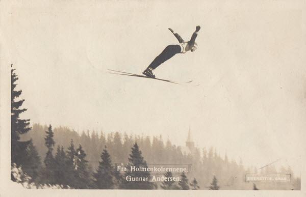 Fra Holmenkolrennene. Gunnar Andersen.