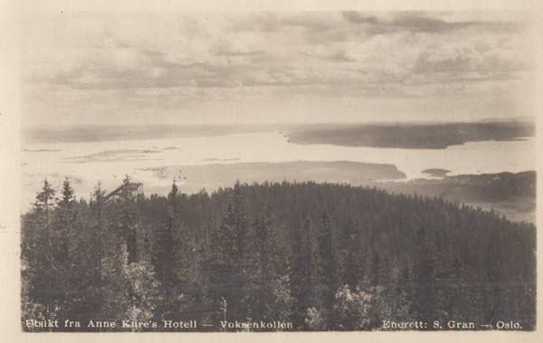 Utsikt fra Anne Kure's Hotell - Voksenkollen