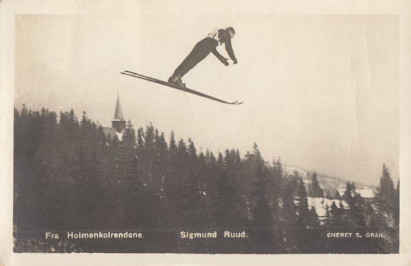 Fra Holmenkolrendene. Sigmund Ruud.