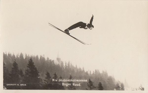 Fra Holmenkolrennene. Birger Ruud