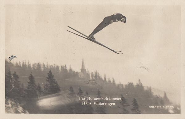 Fra Holmenkolrennene. Hans Vinjarengen
