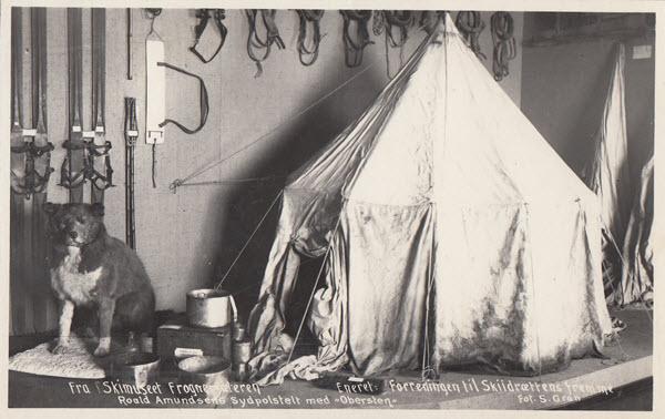 Fra Skimuseet Frognersæteren Roald Amundsens Sydpolstelt med Obersten