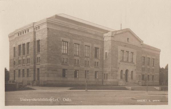Universitetsbiblioteket, Oslo.