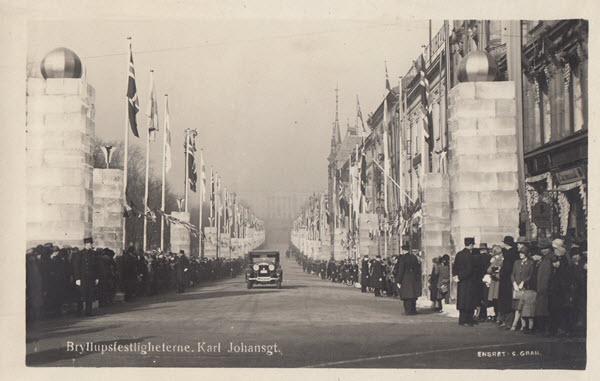 Bryllupsfestligheterne. Karl Johansgt.