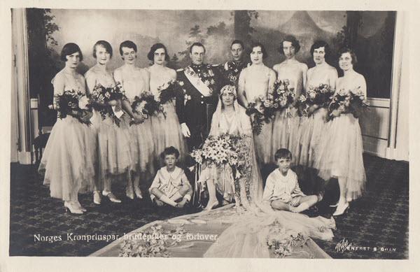 Norges Kronprinspar, brudepiker og forlover