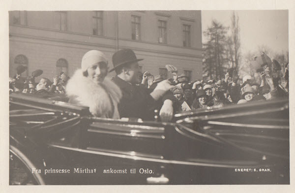Fra prinsesse Märthas ankomst til Oslo.[2]