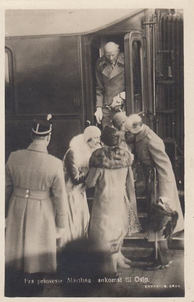 Fra prinsesse Märthas ankomst til Oslo.[3]