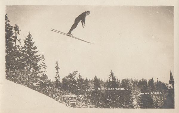 Johan Grøttumsbraaten. Fra Holmenkolrendene.