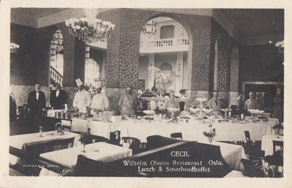Cecil Wilhelm Olsens Restaurant Oslo Lunch & Smørbrødbuffet.
