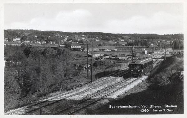 Sognsvannsbanen. Ved Ullevaal Stadion