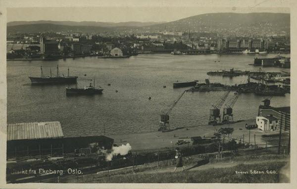 Utsikt fra Ekeberg. Oslo