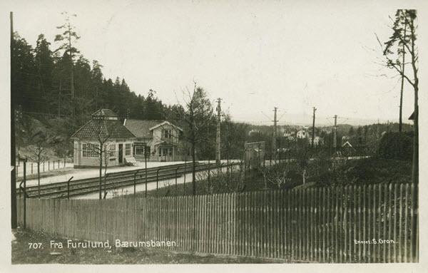 Fra Furulund, Bærumsbanen.