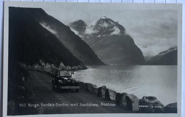 Norge. Sundals-fjorden med Sundalsøra, Nordmør.