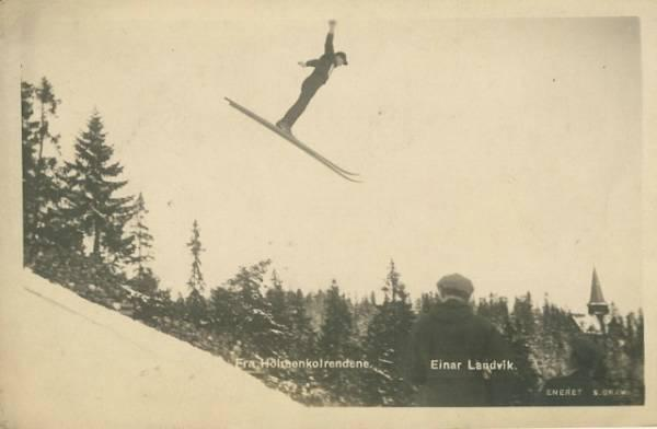 Fra Holmenkolrendene. Einar Landvik