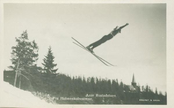 Fra Holmenkolrennene. Arne Rustadstuen.
